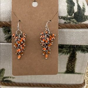 Chico's Coral Surprise Dangle Earrings NWOT